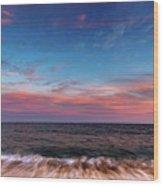Montauk Pink Surf Wood Print
