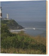 Montauk Point Wood Print