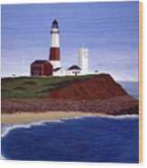 Montauk Point Lighthouse Wood Print