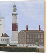 Montauk Point Lighthouse Long Island New York Wood Print