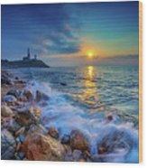 Montauk Sunrise Wood Print