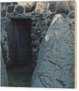 Monte Alban Danzantes Stone Wood Print