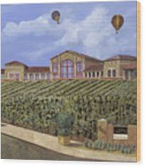 Monte De Oro And The Air Balloons Wood Print