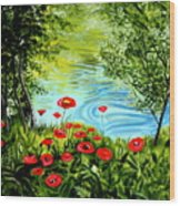 Monte Rio Poppies Wood Print