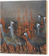 Monte Vista Sandhill Cranes Wood Print