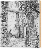 Montefioralle Tuscany Wood Print