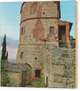 Montefollonico Stone Tower And Fortress Wood Print