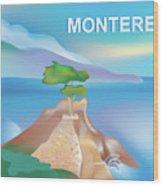 Monterey Bay California Horizontal Scene Wood Print
