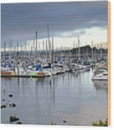 Monterey Harbor - California Wood Print by Brendan Reals