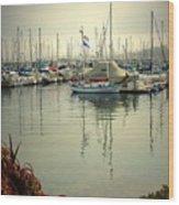 Monterey Marina II Wood Print