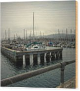 Monterey Marina Wood Print