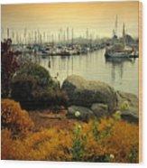 Monterey Marina Vista Wood Print
