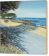 Monterey Shadows Wood Print