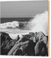 Monterey Waves Wood Print