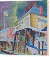 Monterey Wharf Wood Print