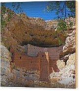 Montezuma Castle In Arizona Wood Print by Jen White