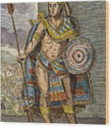 Montezuma II (1480?-1520) Wood Print