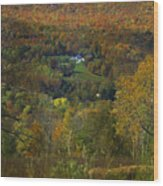 Montgomery Hillside Of Color Wood Print