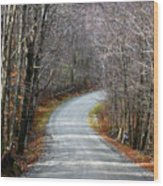 Montgomery Mountain Road Wood Print