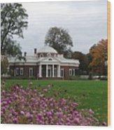 Monticello Wood Print