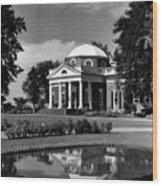 Monticello, Home Of Thomas Jefferson Wood Print