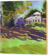 Monticello In October Wood Print