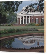 Monticello Reflections Wood Print