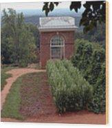 Monticello Vegetable Garden Pavilion Wood Print