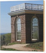 Monticello's Overlook Wood Print