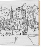 Montmarte Wood Print