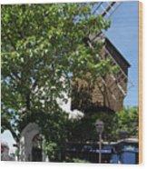 Montmarte Paris Windmill Wood Print