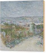 Montmartre  Behind The Moulin De La Galette Paris, July 1887 Vincent Van Gogh 1853  1890 Wood Print