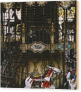 Montmartre Carousel Wood Print