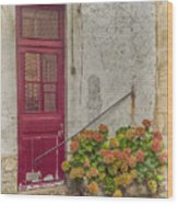 Montmartre Doorway Wood Print