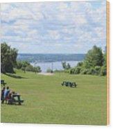 Quebec Picnic Wood Print