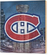 Montreal Canadiens City Wood Print