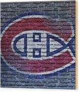 Montreal Canadiens Wall Wood Print
