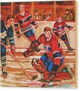 Montreal Forum Hockey Game Wood Print