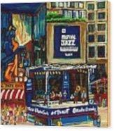 Montreal Jazz Festival Arcade Wood Print