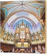 Montreal Notre-dame Basilica Wood Print