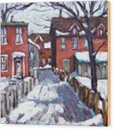 Montreal Scene 02 By Prankearts Wood Print