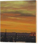 Montreal Sunrise 2 Wood Print