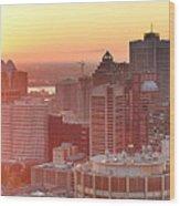 Montreal Sunrise Panorama Wood Print