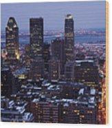 Montreal Winter Cityscape  Wood Print