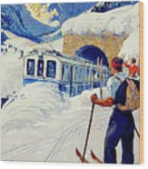 Montreux, Berner Oberland Railway, Switzerland, Winter, Ski, Sport Wood Print