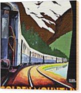 Montreux, Golden Mountain Railway, Switzerland Wood Print