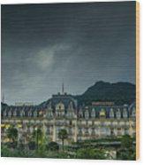 Montreux Palace Wood Print