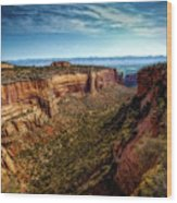 Monument Canyon And Saddlehorn Wood Print
