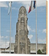 Monument Central Square Quezaltenango Guatemala Wood Print