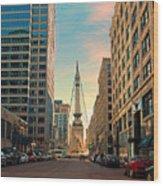 Monument Circle - Indianapolis Wood Print
